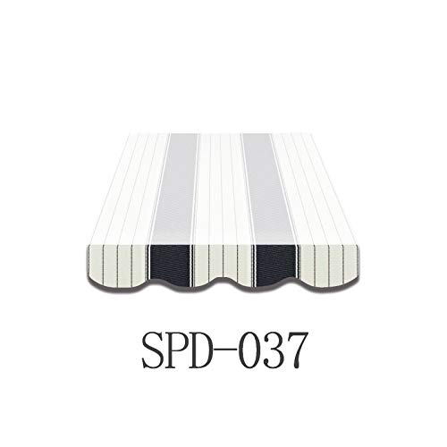 Home & Trends Markisen Volant Markisenbespannung Ersatzstoffe Mehrfarbig Maße 5 x 0.23 m Markisenstoffen fertig genäht mit Bordeux (SPD037)