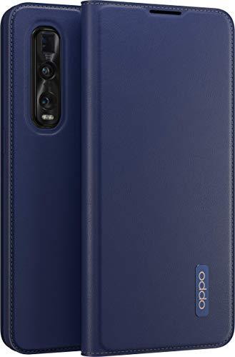 OPPO Schutzhülle Bookcover PU passend für OPPO Find X2 Pro, Dunkelblau