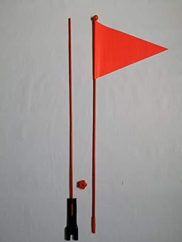 perfecthome Kinder Fahrrad Sicherheitsflagge Fahrradwimpel Sicherheitswimpel Fahrrad Fahne Roter Fahrrad-Sicherheitsfahnenmast, Dreieckige Flaggen für die Fahrradsicherheit für Kinder mit bearable