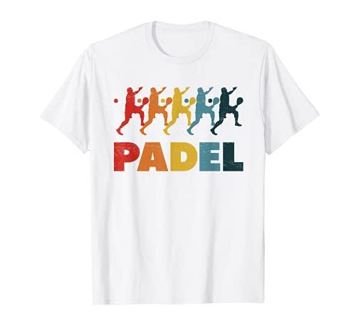 Jugador de Pádel Pista de Tenis Deporte Raquetas de Vintage Camiseta