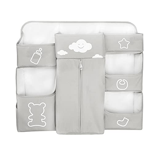 LJJOO Oxford Cloth Caddy Organizer Baby Colgando Malla Bolsa de almacenamiento Bolsa de alojamiento, adecuado para habitaciones de dormitorio con literas, rieles de cama, cuna, campamento Cajas para p