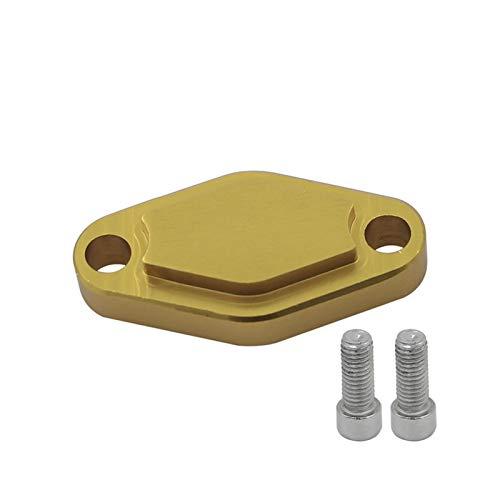 XIAOFANG ATV Parkbremse Block Off-Platte mit O-Ring-Sitz for Yamaha Banshee 87-06 Blaster 04-06 / Raptor 125 250 250R 350 50 660 700 90 (Color : Gold)