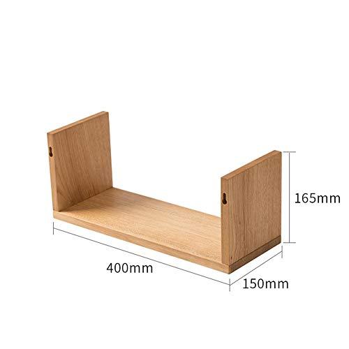 QSAA drijvende planken muur planken muur gemonteerde wandplanken Set drijvende plank massief hout plank eiken muur plank muur opknoping bloem plank opslag partitie frame woord partitie plank