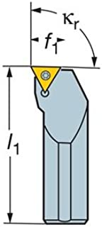 CCMT 3 2 Insert Size 12 Length x 0.64 Width Internal Screw Clamp Solid Carbide 1 Shank Diameter Round Shank 2.5 Sandvik Coromant E16T-SCLCR 3 Turning Insert Holder Right Hand