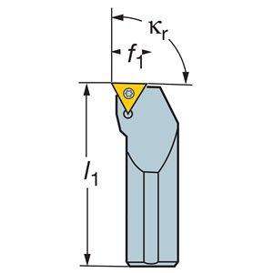 Sandvik Coromant PCLNR 2020K 12 Turning Insert Holder, Square Shank, Steel, External, Lever Lock, Right Hand, 20mm Width x 20mm Height Shank, 125mm Length x 25mm Width, CNMG 432 Insert Size