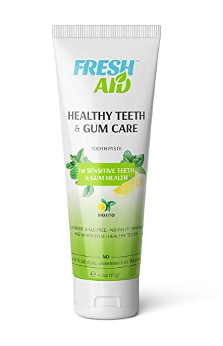 Natural Sensitive Toothpaste (1 PK) - Fluoride Free - Toothpaste for Sensitive Teeth and Gums - Vegan, SLS Free, No Artificial Flavor, Sweetener, Color - Healthy Tooth & Gum Oral Care HTG