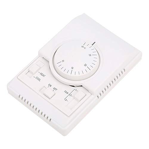 Controlador de Temperatura Mecánico, Termostato de Aire Acondicionado Montado En Superficie, Control de Temperatura 10-30 ℃ Ac220V, Para Válvula de Aire Eléctrica
