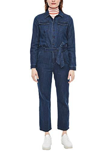 s.Oliver RED LABEL Damen Jeans-Overall mit Waschung dark blue 36