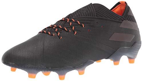 adidas Men's Nemeziz 19.1 Firm Ground Soccer Shoe, Black/Black/Signal Orange, 9.5