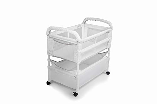 Arm's Reach Concepts Co-Sleeper Bassinet, Clear-Vue, White