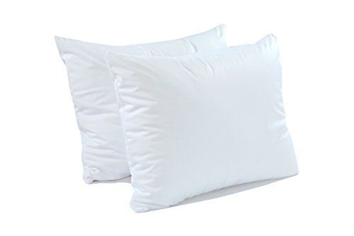 CALM NITE Pillow Protector 2 Pack - Extra Soft Knit - Waterproof Zippered Hypoallergenic Case (Standard 2 Pack)