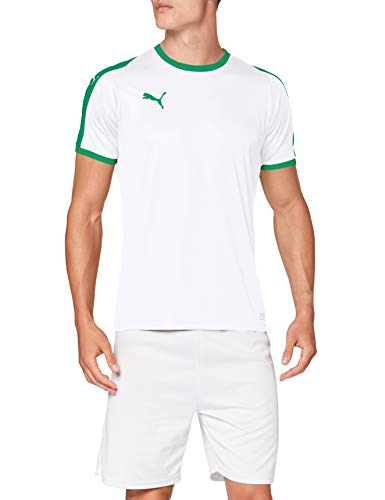 Puma Liga Jersey T-Shirt Homme - Blanc (Puma Blanc/Pepper Vert) - FR: 60-62 (Taille Fabricant: 2XL)