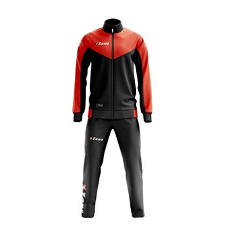 Zeus - Chándal ULYSSE para Entrenamiento, Running, Relax, Jogging, Deporte, Nero-Arancio Fluo, XXXS