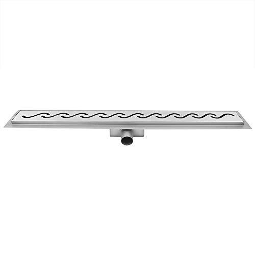 Ablaufrinne für den Boden aus Edelstahl, Duschkabine, Duschkabine, Entwässerungssystem aus Edelstahl, für Küche, 60 cm