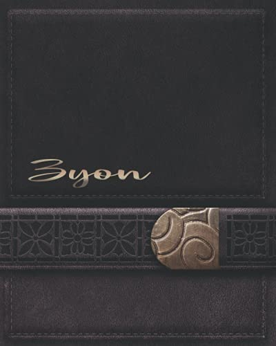 ZYON JOURNAL GIFTS: Novelty Personalized Present With Customized Name On The Cover (Zyon Notebook)