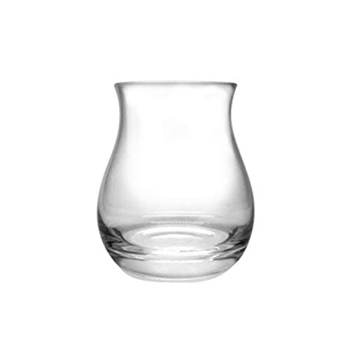 LIZCX YAOQIHAI Mezclador Whisky copita riso Vidrio Ancho Vientre Roly-Poly Whisky Rock Tumbler Cristal reúne el Brandy snifter Tulip tather de cata de vinos (Capacity : 320ml, Color : 1 Piece)