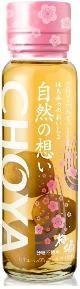 CHOYA 自然の想い はちみつ 梅酒325ml 梅の実50ml/12本.hn