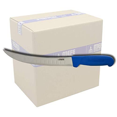252016689 - Cuchillo curvado para filete (20,32 cm, mango de fibra azul y hoja acanalada, caja de 100 unidades)