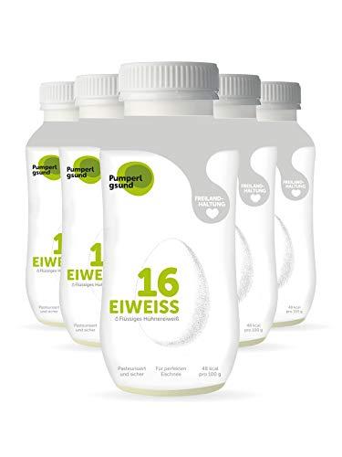 Pumperlgsund Eiklar, Flüssiges Eiweiß bis zu 3 Monate haltbar (Freiland, 6 x 483ml), 2898 ml, 9,99 €/L