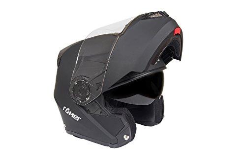 Römer Helmets Motorradhelm Augsburg, Matt Schwarz, Größe XL