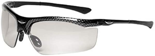 3M (formerly Aearo) 13407-00000 3M Smart Lens Safety Glasses, Black/Silver Frame/Clear Polycarbonate Photo chromatic Abrasion-Resistant Hard Coat/Black Lens