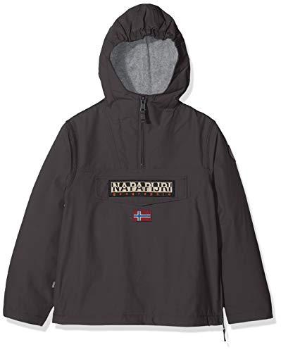 Napapijri Rainforest Winter Jacket, Giacca con Cappuccio Bambino, Grigio (Dark Grey Solid 198), 140 cm (Taglia Produttore: 10) Bambino