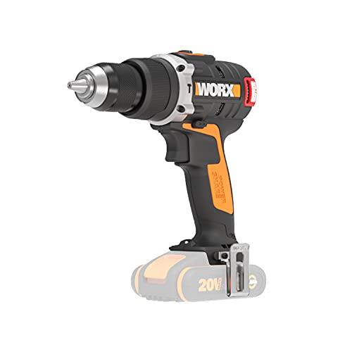 WORX WX373.9 Akku Schlagbohrschrauber – Bürstenloser Akkuschrauber 20V - 60Nm, 2-Gang-Getriebe & LED-Licht - zum Schrauben, Bohren & Schlagbohren – Ohne Akku & Ladegerät