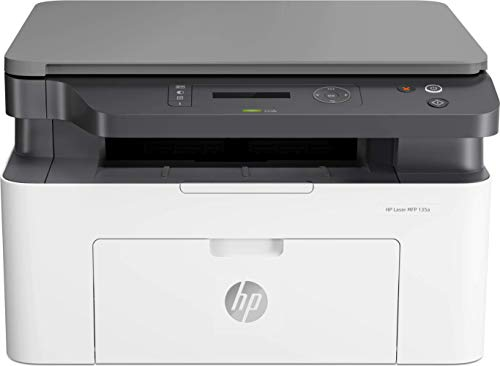 HP Laser MFP 135w - Impresora láser multifunción, monocromo, Wi-Fi, USB 2.0 (4ZB83A)