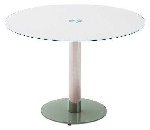 Robas Lund Glastisch Tisch Wohnzimmertisch Glasplatte Weiß, Falko BxHxT 100 x 77 x 100 cm