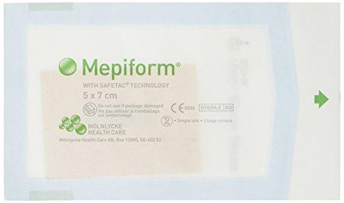 Mepiform 293250 Narbenverband, 5 x 7 cm, 5 Stück