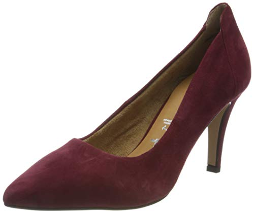 Tamaris Damen 1-1-22445-25 Pumps Pumps, Bordeaux Suede, 38 EU