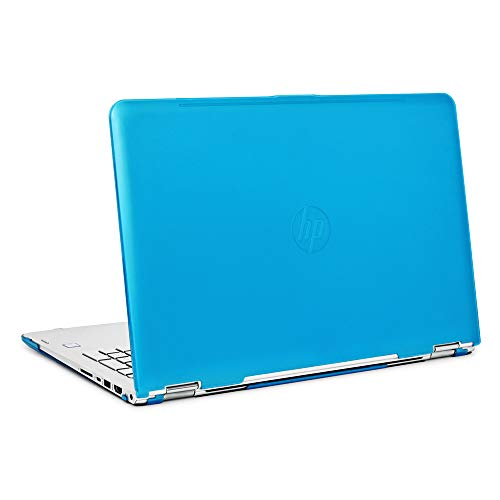 mCover iPearl Hard Shell Case for 15.6' HP Envy X360 15-AQxxx / M6-AQxxx Series (15-AQ173cl / m6-AQ103dx, etc) Convertible laptops (X360-15-AQ) (Aqua)