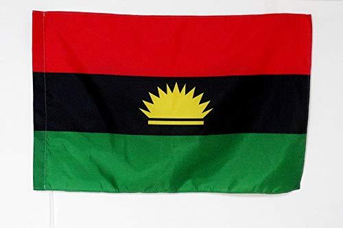 AZ FLAG Flagge BIAFRA Separatist IN Nigeria 150x90cm - Republik BIAFRA Fahne 90 x 150 cm Scheide für Mast - flaggen Top Qualität