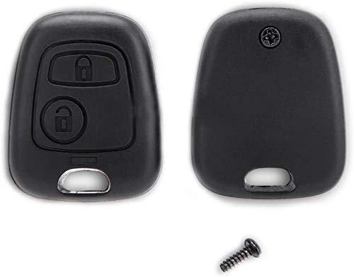 Shoppy Lab Shell Shell para Control Remoto 2 Botones de Repuesto Compatible con Citroen C1 C2 C3 Xsara Saxo Picasso Toyota Aygo Peugeot 106107206207407 (2 Botones)