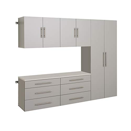 "HangUps 90"" Storage Cabinet Set H - 5pc, Light Gray"