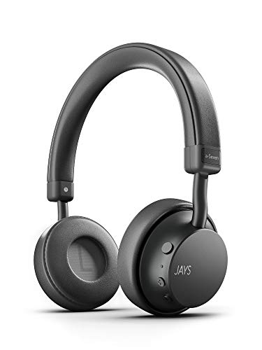 JAYS Auriculares Bluetooth Inalámbricos - a-Seven - Canoso - Cascos 25h de duración & con...