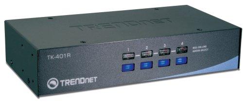 TRENDnet 4-Port PS2 Rack Mount KVM Switch, TK-401R