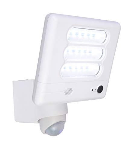 Lutec ESA Sicherheitslicht mit 25W Kamera, Weiß, 20 x 17 cm