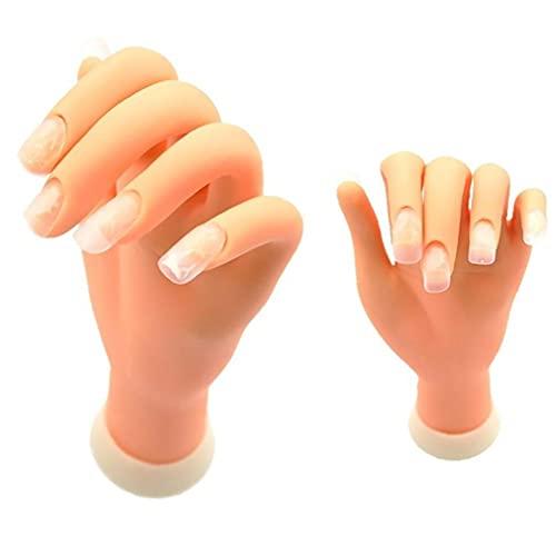 1pc Nail Art Pratique Kit ongles Entraînement Pratiquante Main Disponibilité manucure Mannequin Mannequin Main de manucure à ongles (main gauche) Kits de manucure
