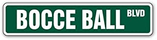 [SignJoker] BOCCE BALL Street Sign set balls italy team game new Wall Plaque Decoration