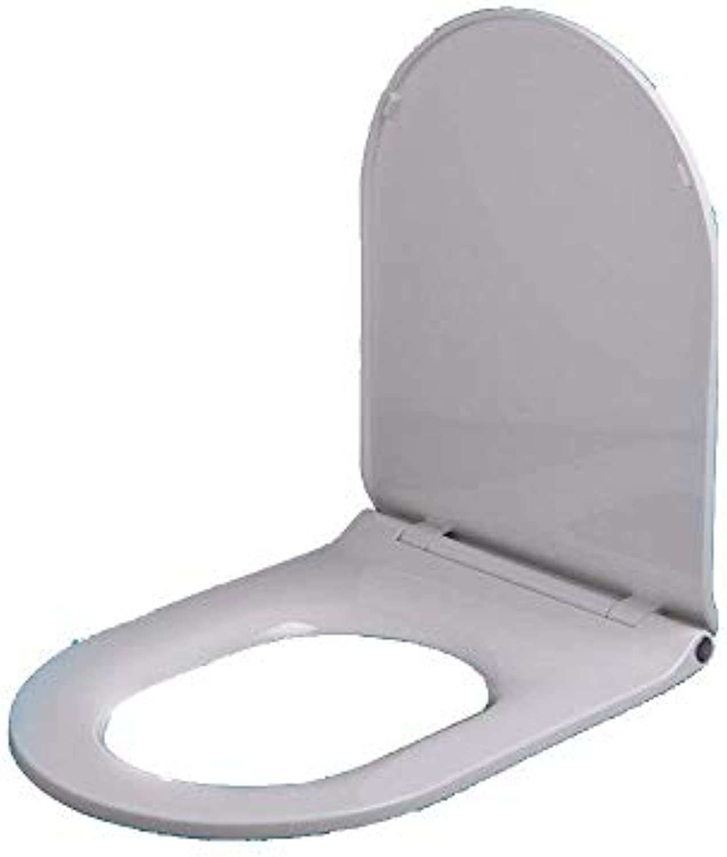 WC-Sitz WC-Sitz Universal WC-Sitz U V-Form Drop Stumm Antibakterielles PP-Board Oben montiert WC-Deckel Antibakterieller Toilettensitz