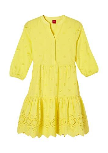 s.Oliver Mädchen 401.10.103.20.200.2060475 Kinderkleid, Yellow, 140