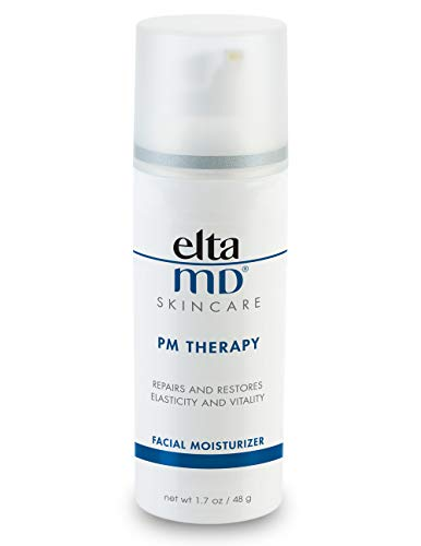 EltaMD PM Therapy Face Moisturizer with Hyaluronic Acid, Oil-Free, Fragrance-Free, Noncomedogenic, Repairs and Restores Skin, 1.7 oz