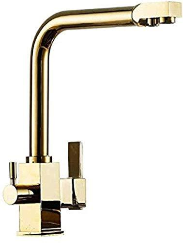 Grifo de lavabo Grifo de cocina Fregadero Mezclador de lavabo Filtro de agua de función dual Grifo de cocina Grifo de tres vías Filtro de agua Grifo de cocina de latón Grifo de agua fría y caliente gi