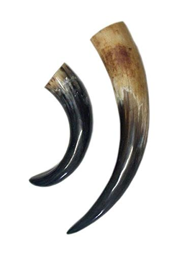Trinkhorn aus echtem Horn ca. 0,4 Liter - Methorn Trinkhorn für Met - Mittelalter, Wikinger LARP