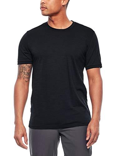 Icebreaker Herren Merino T-Shirt Spector, Black, M, 103038