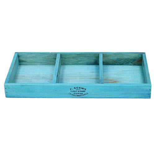 Caja de almacenamiento de madera retro, organizador de bande