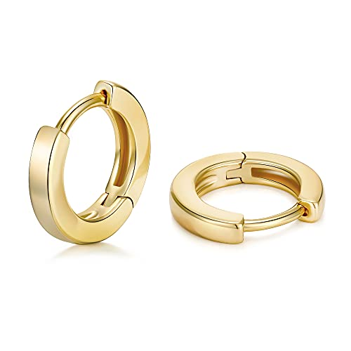 micuco Cartilage Hoop Earring 14K Real Gold Plated Hoop Huggie Earrings for Men Hypoallergenic Small Hoop Earrings for Women Tiny Ear Cuff Jewelry
