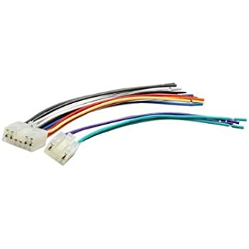 amazon.com: absolute awh130 (71-1761) reverse wiring harness for select  1987-2007 toyota and scion vehicles factory radio: car electronics  amazon.com