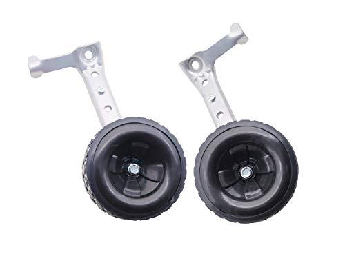 MOSHAY Roll Over Image para ampliar las ruedas de entrenamiento de bicicleta se adapta a 16 18 20 22 24 pulgadas niños Variable Bike (negro)